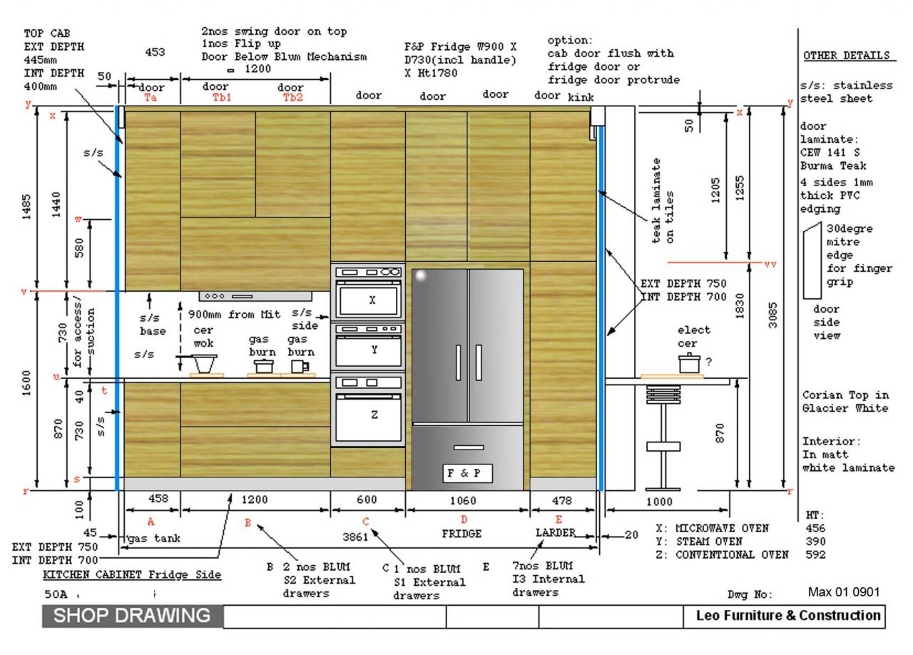 Leo Furniture Construction Shop Drawings