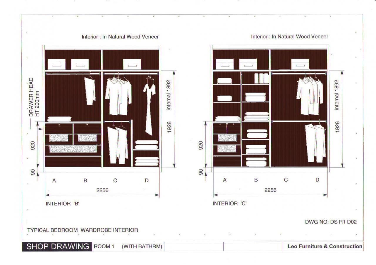 20 Delightful Wardrobe Plans Drawings Home Building